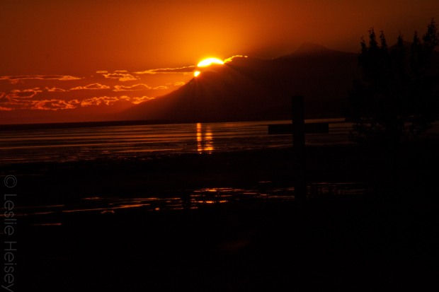 Sunset from Turnagain Arm, Cook Inlet