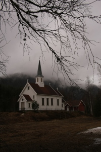Church in Jondalen,  Norway