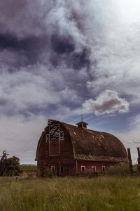 Old Barns abound in this farming community, they have been abandoned for steel buildings or just not used any more.
